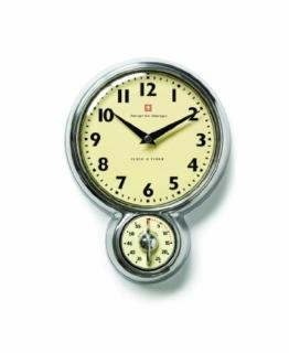 Bengt Ek 1845 Wand Uhr mit Kurzzeit Timer 18 cm Ø -
