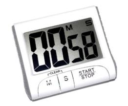 Eieruhr – Timer mit Countdown mit Magnethalterung, Fuß - 1
