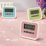 ELEGIANT Digital große LCD Display Küchentimer Küchenuhr Kurzzeitmesser Kurzzeitwecker elektronischer Timer KITCHEN COOKING Time ''Countdown'' mit Magnethalter Rosa -