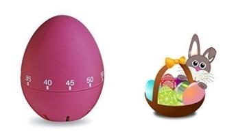 Küchentimer,Kurzzeitwecker,KITCHEN TIMER,EIERUHR – Kurzzeitmesser bis 60 Minuten Farbe pink von Conny Clever® -
