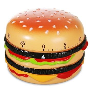 Kurzzeitwecker Kunststoff Burger Hamburger Cheesburger Kurzzeit Wecker Eieruhr 8 cm -