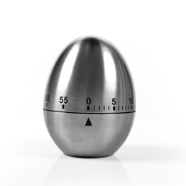 Maschinerie Zeitmesser  -Eiförmige Stahl Eieruhr mit Stoppuhr Kurzzeitmesser Rostfreier Kurzzeitwecker von Family Care -