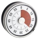 Mechanischer Kurzzeitmesser, magnetisch, Edelstahl, 8 X 3,2 cm -