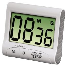 Xavax Digitaler Küchentimer (Timer- und Stopp-Uhr-Funktion, Countdown) weiß -