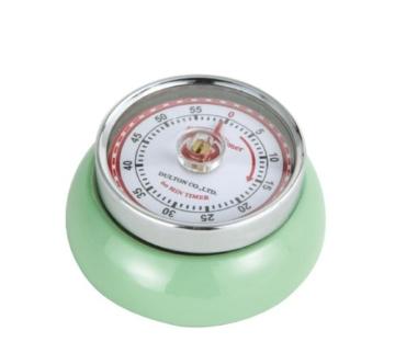 Zassenhaus 0000072365 Timer Speed, Edelstahl, grün, 7 x 7 x 3 cm -