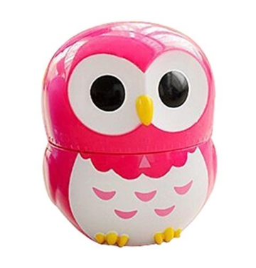 Da.Wa Cooking Timer Cartoon Owl Shape Kitchen Timers Mechanical Cook Cooking Timer (Rose,Set of 1) - 2