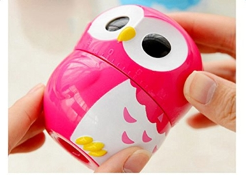 Da.Wa Cooking Timer Cartoon Owl Shape Kitchen Timers Mechanical Cook Cooking Timer (Rose,Set of 1) - 3