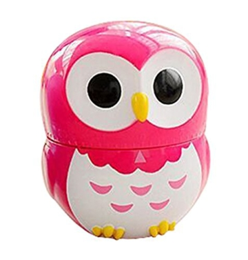 Da.Wa Cooking Timer Cartoon Owl Shape Kitchen Timers Mechanical Cook Cooking Timer (Rose,Set of 1) - 1
