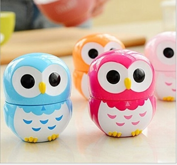 Da.Wa Cooking Timer Cartoon Owl Shape Kitchen Timers Mechanical Cook Cooking Timer (Rose,Set of 1) - 5