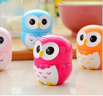 Da.Wa Cooking Timer Cartoon Owl Shape Kitchen Timers Mechanical Cook Cooking Timer (Rose,Set of 1) - 6
