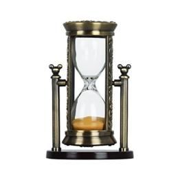 Fengfa, 3 Minuten Sanduhr, Sand-Timer Romantische Kristall mit Sands für Mantel-Büro-Schreibtisch Coffee Table Book Regal Schrank Weihnachtsgeburtstag -Geschenk-Kasten-Paket (RKS-BG001) - 1