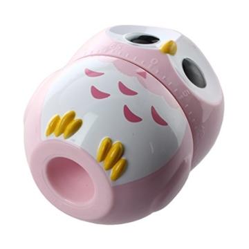 Kuechentimer - SODIAL(R) Eule Ei-Uhr Kurzzeitwecker Kurzzeitmesser Eieruhr Eiermesser Kuechentimer (1-60 Minuten) (Rosa) - 4