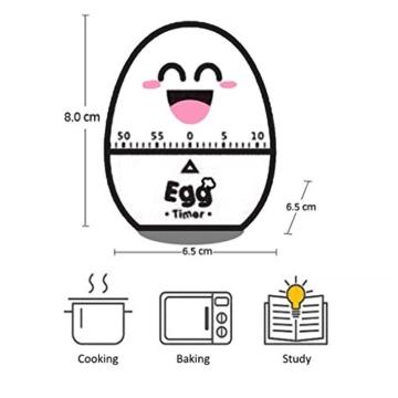 Kumkey Eier Küchetimer Mechanische Zeitmesser Alarm Clock 60 Minütigen Kurzzeitwecker Countdown Time Timer für Students,Sport, Kochen, Backen, Braten Erinnerung (Blau) - 3