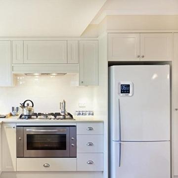 Magnetischer Küchentimer, GEEKHOM Digitaler Touchscreen-Timer mit Alarm, Countdown & Hochzähler, großer LCD Bildschirmtimer für die Küche und zum Kochen - 4