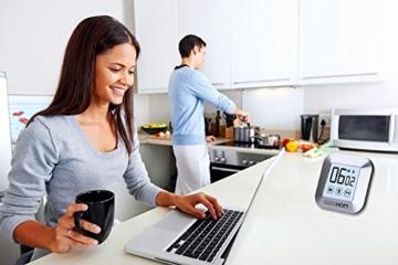Magnetischer Küchentimer, GEEKHOM Digitaler Touchscreen-Timer mit Alarm, Countdown & Hochzähler, großer LCD Bildschirmtimer für die Küche und zum Kochen - 5