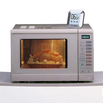 Magnetischer Küchentimer, GEEKHOM Digitaler Touchscreen-Timer mit Alarm, Countdown & Hochzähler, großer LCD Bildschirmtimer für die Küche und zum Kochen - 6