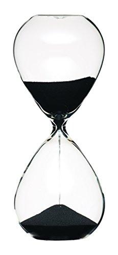 Master Class KitchenCraft MCSANDTIM 3-Minuten-Sanduhr, Glas, schwarz, 16 x 6.5 x 6.5 cm - 1