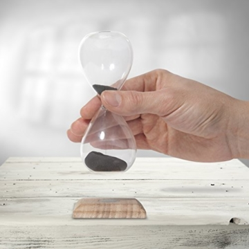 Thumbs Up Magnetische Sanduhr, Glas, schwarz, 5.3x5.3x13 cm - 2