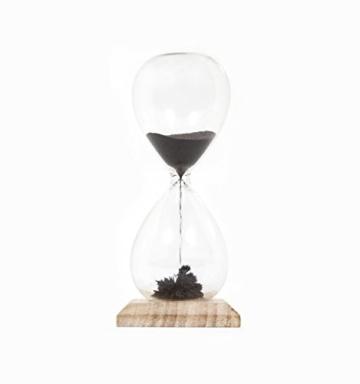 Thumbs Up Magnetische Sanduhr, Glas, schwarz, 5.3x5.3x13 cm - 3