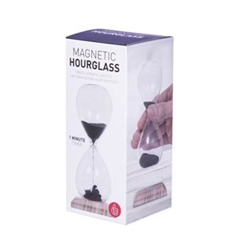 Thumbs Up Magnetische Sanduhr, Glas, schwarz, 5.3x5.3x13 cm - 4